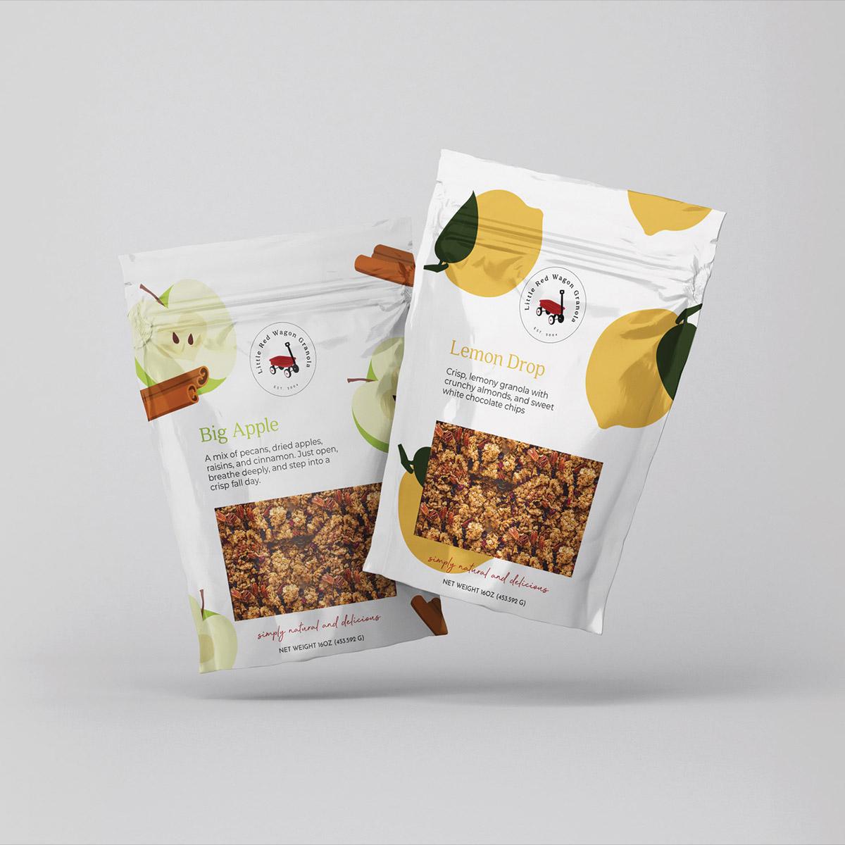 Unique granola flavors from Little Red Wagon Granola