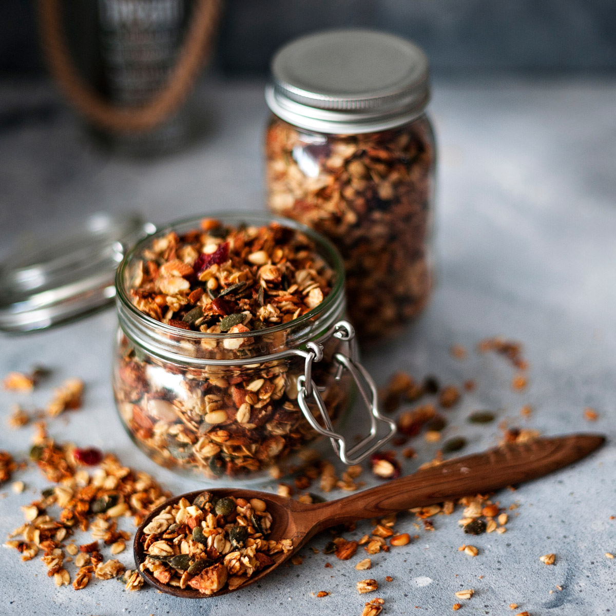 is granola good for you, granola in glass jar